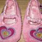 Children's Place Pink Slip On Heart Slippers