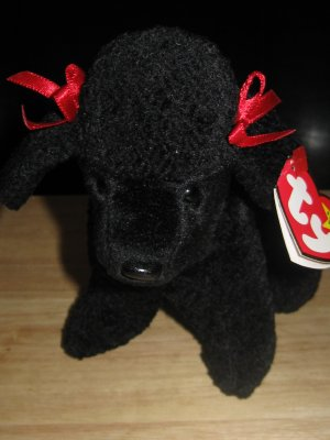 Ty Beanie Baby Original Collection Gigi Black Poodle with Hair Bows Retired  (HC20) 82c26454981
