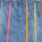 Denim Zipper Pleat Skort Elastic Waist with Belt Loops Size 6 by UGirl (HC26)