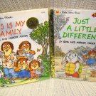 Little Golden Books This is My Family 50th anniversary '92 & Just a Little Different 1st Edition '98