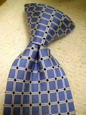Chaps Boys Lined Blue Navy Clip On 100% Silk Neck Tie (HC25)