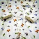 Carter's One Piece Preemie Boys Snap Sleeper Assorted Zoo Animal Print (HC19)