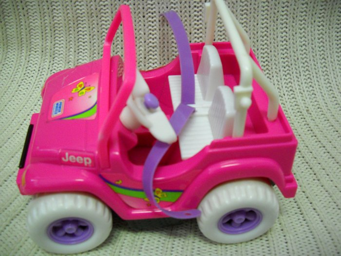 Kelly Doll Jeep Horn Beeps Giggles and Drives Across Floor 1997 (HC43)