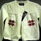 American Living Cream Color Holiday Sweater NWT Size 3 (HC26)