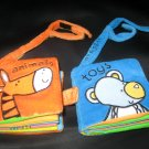 Cuddly Cuffs™ Set Soft Books Velcro Tab Attaches to Wrist by Tiger Tales 2002