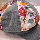 The Children's Place ™ Denim Patchwork Floral Design Cap Size 6/12Months (HC27)