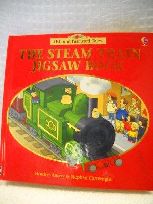 The Steam Train Jigsaw Book Board Book by Usborne