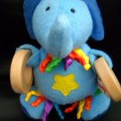 Sassy Crinkle Ribbon Textured Elephant Rattle (HC28)