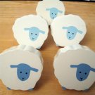Set of Five Dresser Knobs for Nursery Shaped Like Sheep (HC23)