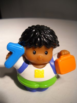 Fisher Price Little People Replacement Number 7 Little Boy 2005 (HC45)