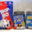 Crazy Old Fish War, Rook and Skip- Bo New Card Games (HC46)