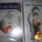 Raymond Briggs The Bear and The Snowman VHS Video Tapes (HC46)