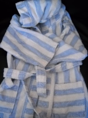 100% Cotton Hooded Bath or Pool Robe Unisex Size M by T.J. Lawford Kids (HC24)