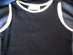 Sleeveless Black Top with Bead Fringe Size M (HC46)
