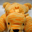 TY 1996 Pillow Pal Soft Purr the Orange Stripped Tiger Retired