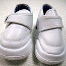 Infant Crib Shoe White Size 2 Leather Like Feel (HC27)
