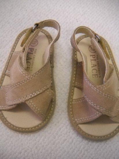 The Children's Place® Infant Sandal Soft Bottom Tan Velcro Closure Size 6/12 Months (HC27)