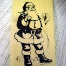 Wood Rubber Stamp Santa Clause Holiday Set (HC)