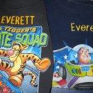 "TWO Disney Sweatshirts Monogrammed ""EVERETT"" Size 5/6 (HC19)"