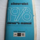 Original 1978 Chevrolet Owners Manual Vintage Out of Print