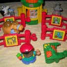 Fisher Price Mattel Little People Baby Zoo Animals 10 Piece Play Set 2002