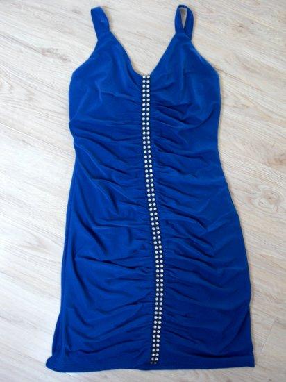 Super Sexy Sleeveless Blue Zipper Cocktail Dress (B2-0003)