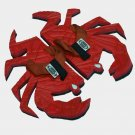 Red Crab Fiesta Flops - Large