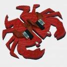 Red Crab Fiesta Flops - Large