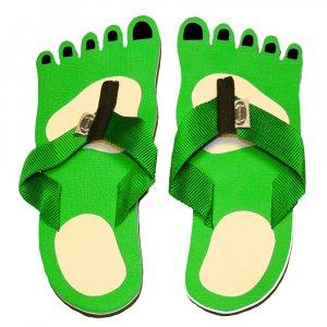 Green Feet Kid Flops - XSmall