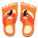 Orange Feet Kid Flops - Small