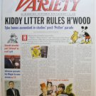 "Variety: January 7-13, 2002 ""Kiddy Litter Rules Hollywood"""
