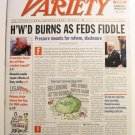 "Variety: July 29 - August 4, 2002 ""Hollywood Burns as Feds Fiddle"""