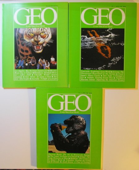 Geo - A New View of Our World: 3 Back Issues