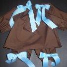 Custom Boutique Chocolate Long Sleeved Pillowcase Dress and Pantaloons