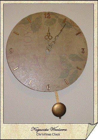 Christmas Pendulum Clock