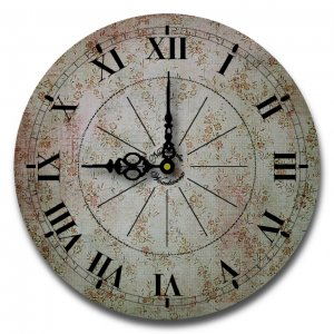 """12"""" Decorative Wall Clock (Soothing Floral Clock)"""