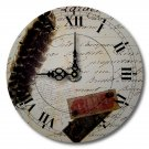 "12"" Decorative Wall Clock (Letters from the Past)"