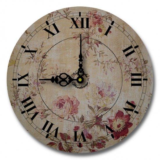 "12"" Decorative Wall Clock (Grandma's Floral Clock)"