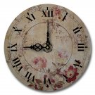 "12"" Decorative Wall Clock (Grandma's Floral Clock)"