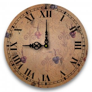 """12"""" Decorative Wall Clock (Grapes)"""