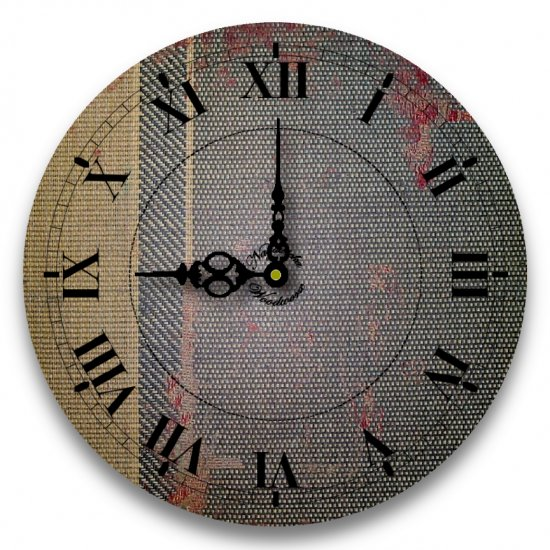 """12"""" Decorative Wall Clock (Office Tapestry)"""