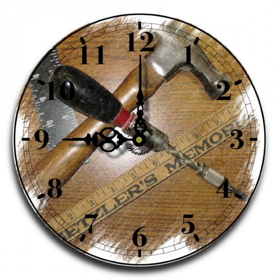 """12"""" Decorative Wall Clock (The Woodworker)"""