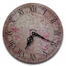 "12"" Decorative Wall Clock (Botanical Script)"