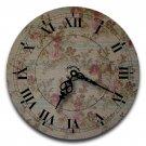 "12"" Decorative Wall Clock (Floral Elegance)"