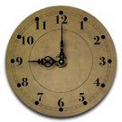 "12"" Decorative Wall Clock (Green Suede)"