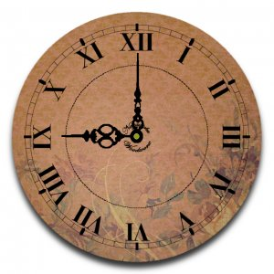 "12"" Decorative Wall Clock (More than a Rose)"