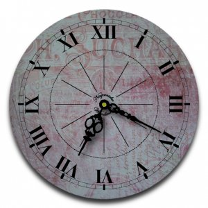 "12"" Decorative Wall Clock (Red Chocolate)"