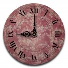 "12"" Decorative Wall Clock (Red Floral)"
