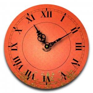 "12"" Decorative Wall Clock (Red Glitter)"