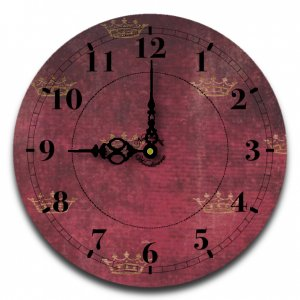 "12"" Decorative Wall Clock (Tiara)"